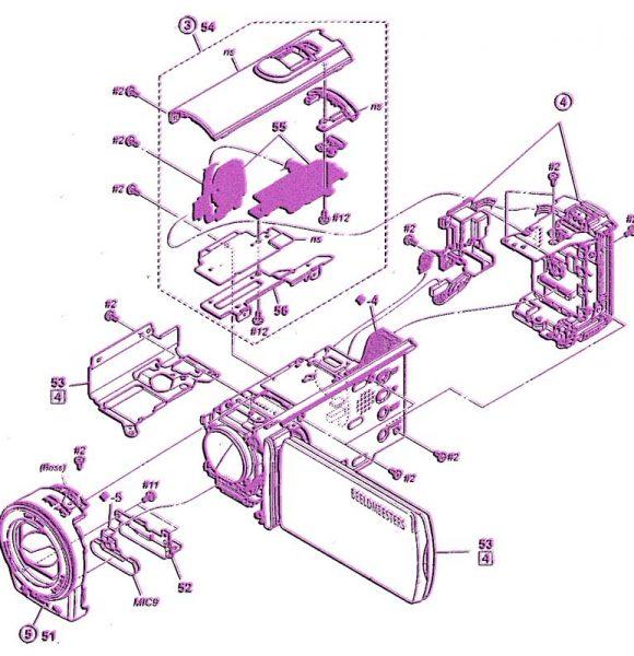 onderdelen videocamera