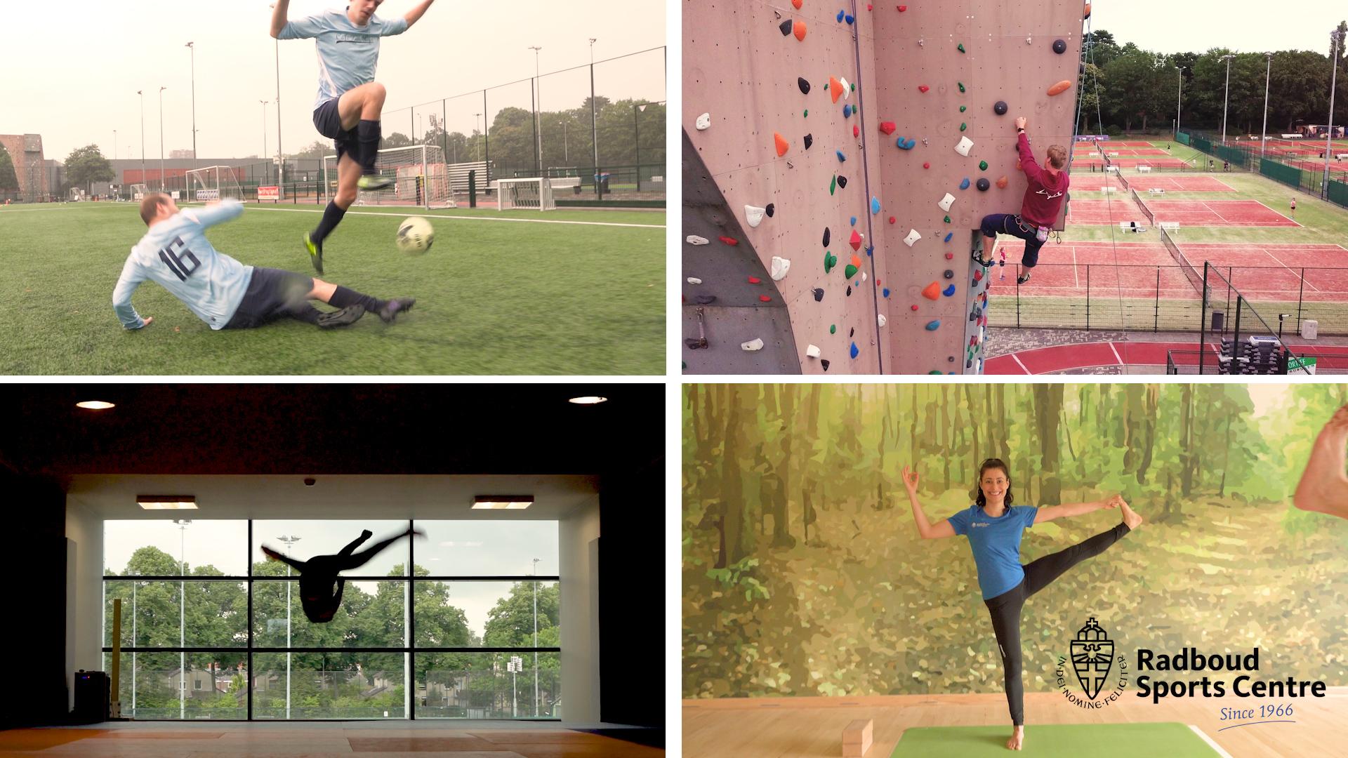 """[expand title=""""""""] https://youtu.be/CR1dzvOmGoM Een film voor het Radboud Sportcentrum vol energie en met bijna alle sporten en faciliteiten van de universiteit van Nijmegen.[/expand]"""